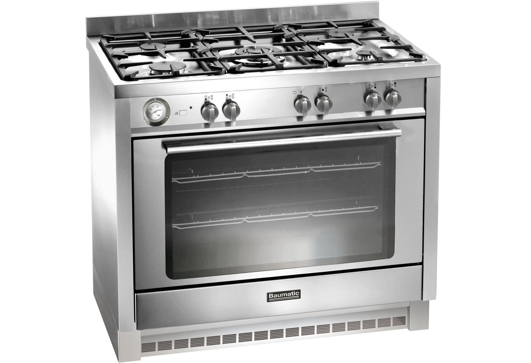 Image of Baumatic BCG905SS 90cm Gas Range Cooker - Stainless Steel.