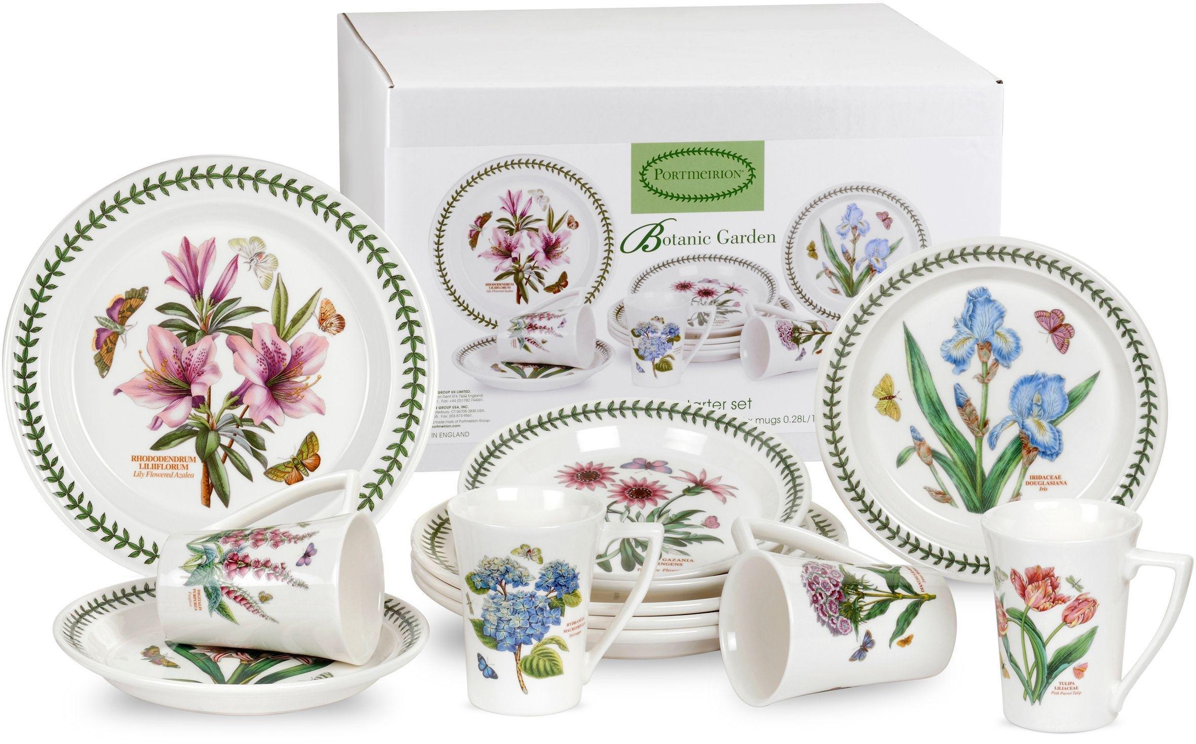 portmeirion botanic garden 12 piece ceramic dinner set