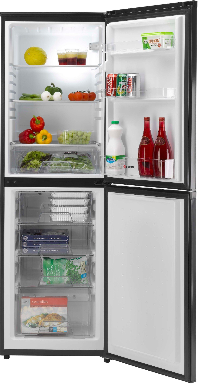 Image of Hoover HVBS5162BK Tall Fridge Freezer - Black