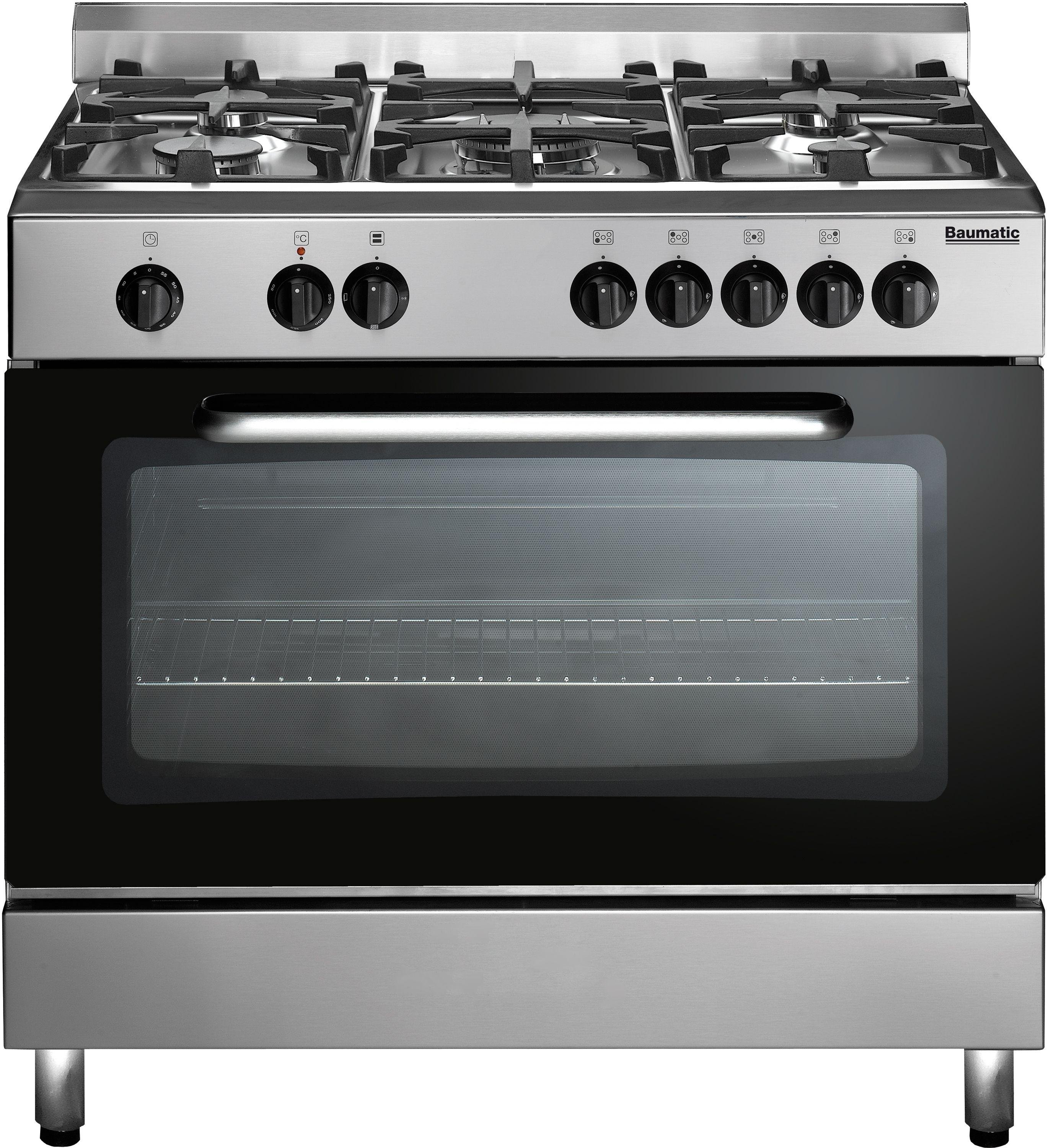 Image of Baumatic - BC391.3 - Dual Fuel Range Cooker - Stainless Steel