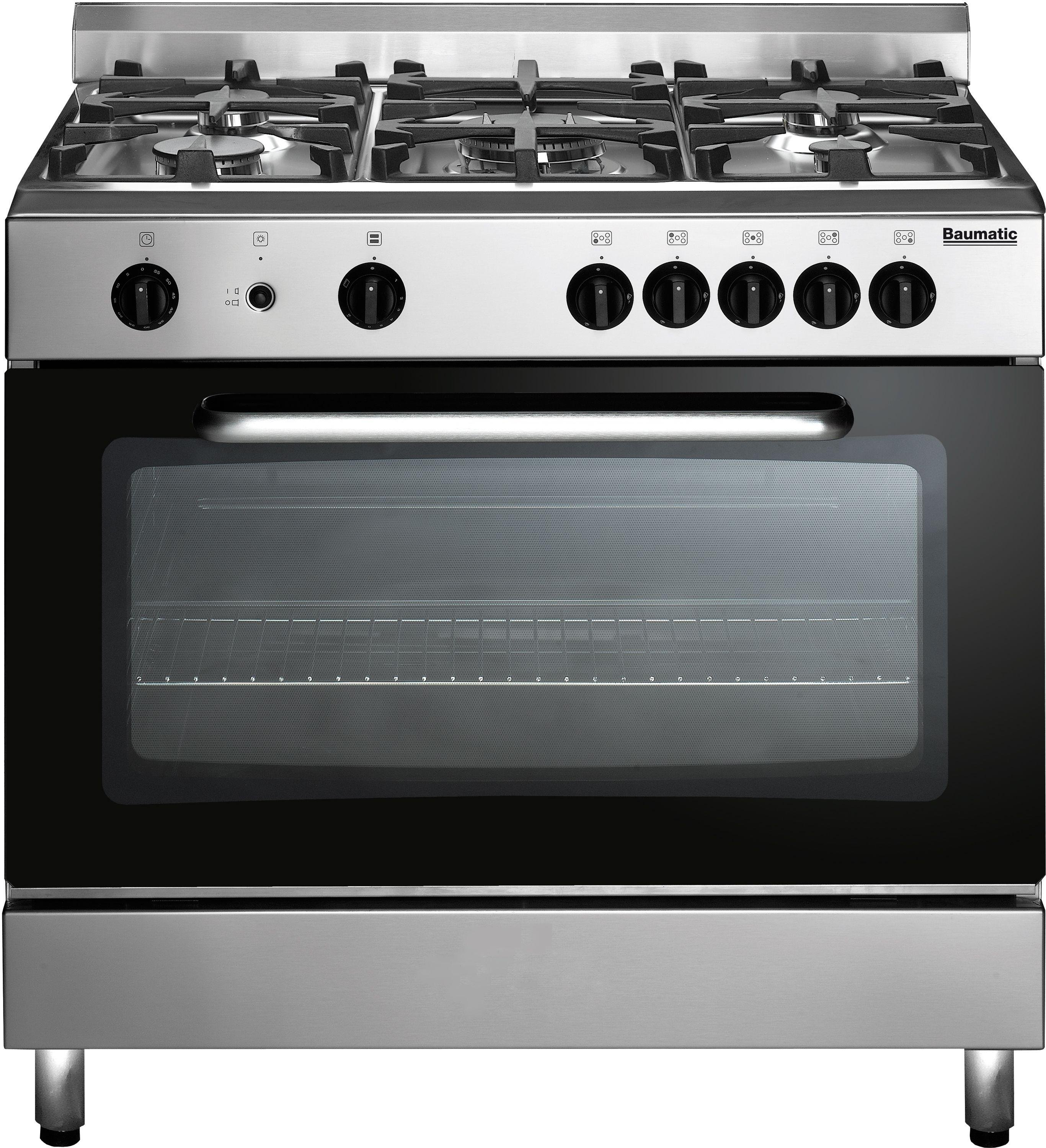Image of Baumatic - BC1902TCSS 90cm - Gas Range Cooker - Stainless Steel