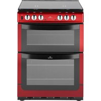 New World 601DFDOL Double Dual Fuel Cooker - Red
