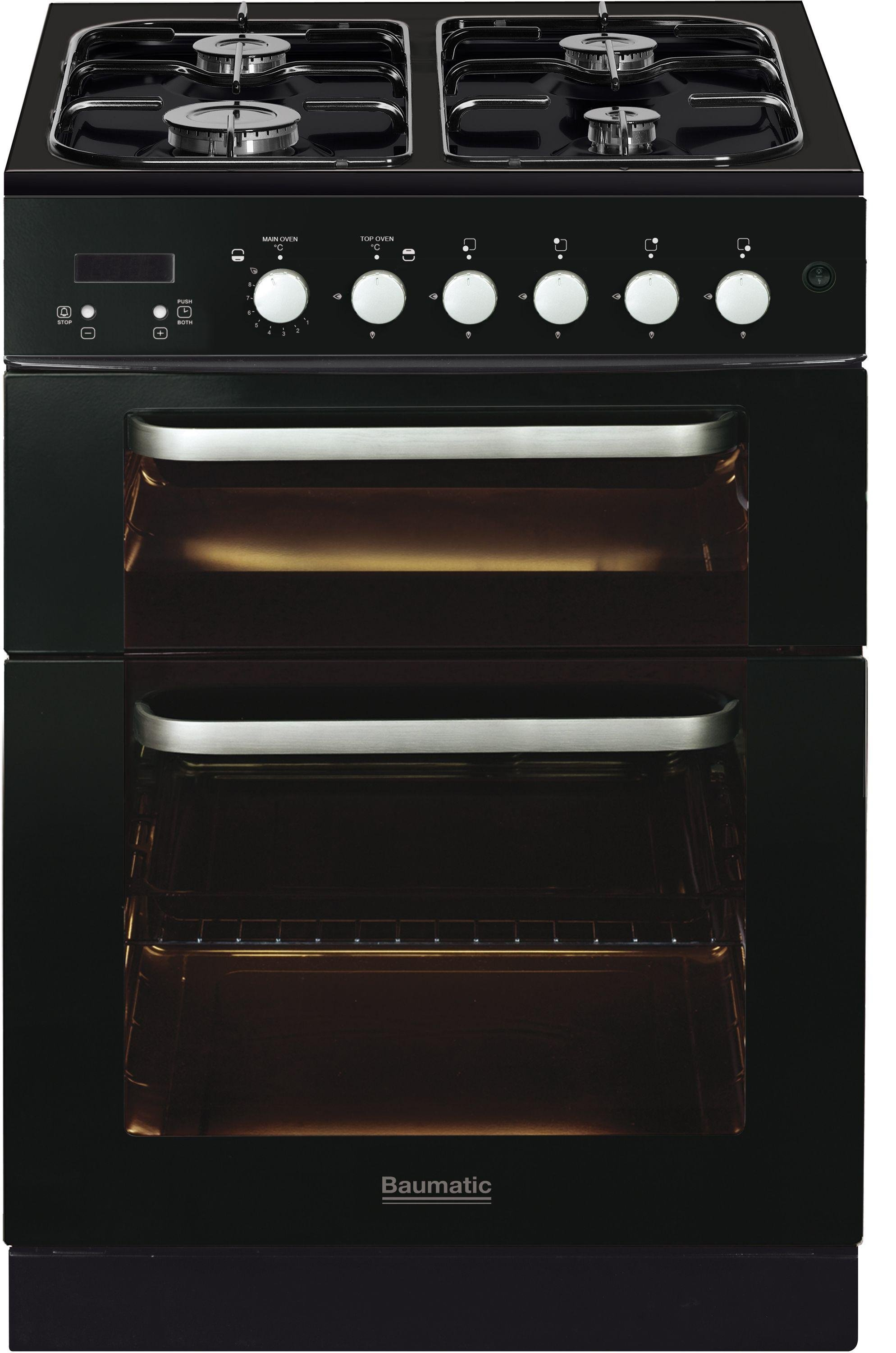Baumatic BCG625BL 60cm Gas Twin Cooker - Black.