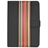 Universal - 7/8 Inch Striped PVC Tablet Case - Black