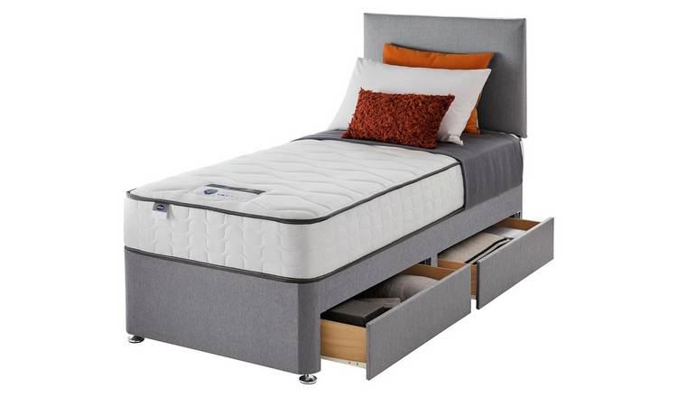 Silentnight Middleton 800Pkt Comfort 2Drw Single Divan -Grey
