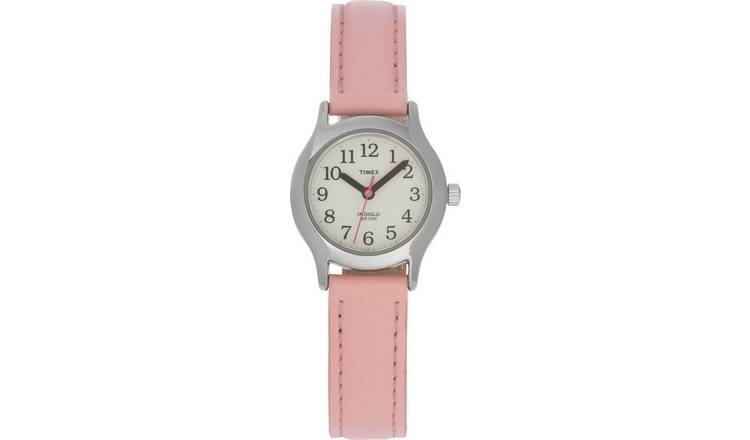 Timex Pink Leather Strap Watch