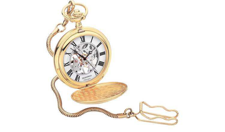 Sekonda Classique Men's Mechanical Skeleton Pocket Watch