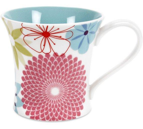 Buy Portmeirion Crazy Daisy Porcelain Set of 4 Mug   Tea sets, mugs ...