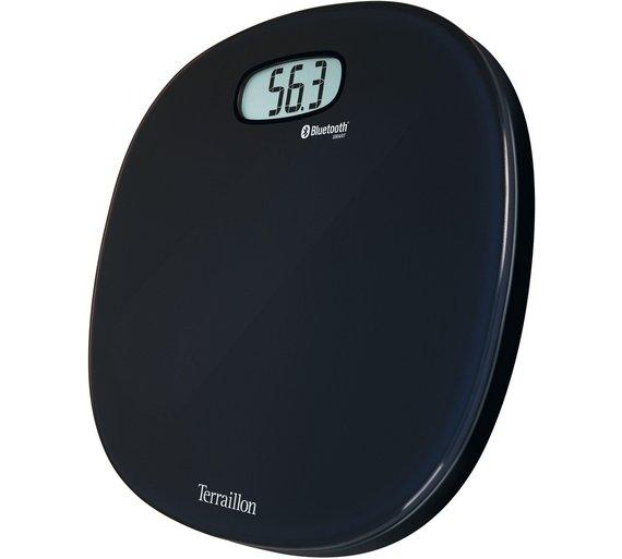 Buy terraillon web coach one black body analyser bathroom for Big w bathroom scales