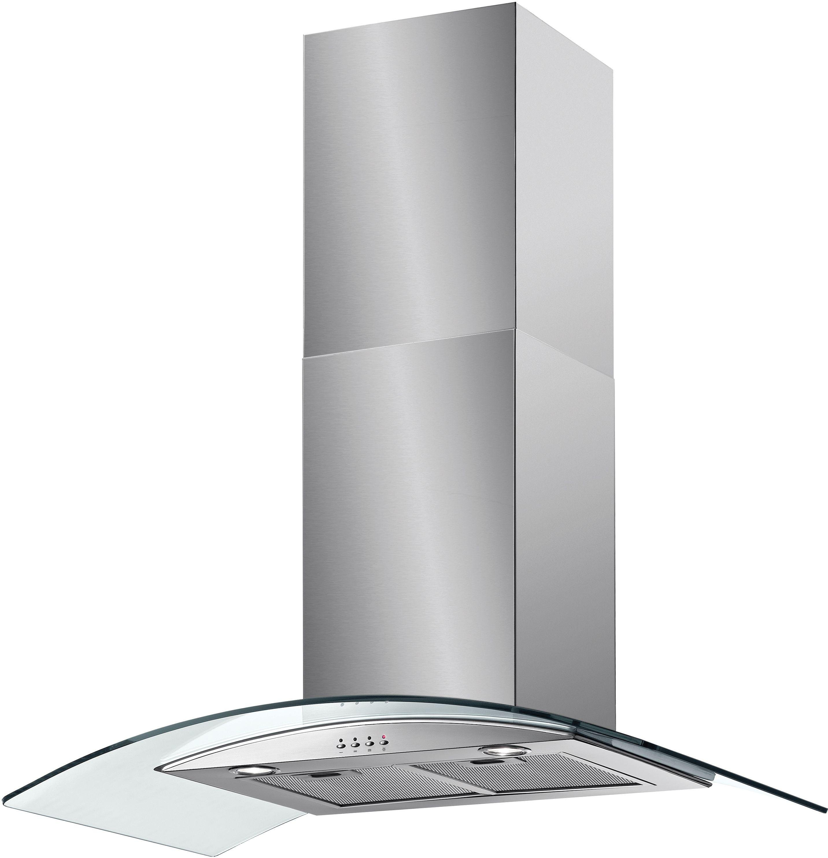 Image of Baumatic BT93GL 90cm Glass Cooker Hood - Stainless Steel