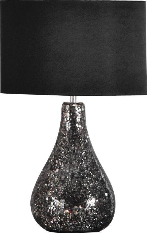 Heart of House - Eloise Crackle Finish - Table Lamp - Black