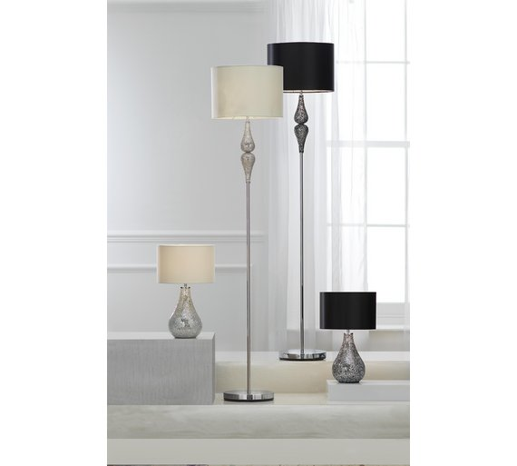 Buy argos home eloise crackle finish table lamp black limited click to zoom mozeypictures Images