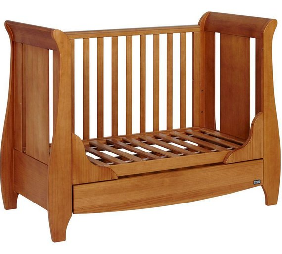 buy tutti bambini katie cot bed oak at. Black Bedroom Furniture Sets. Home Design Ideas