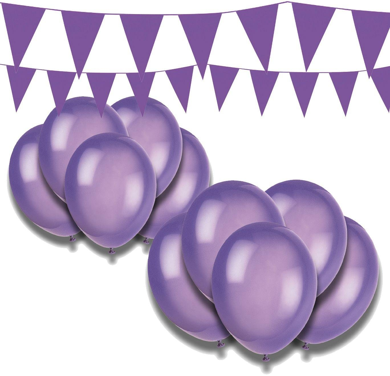 Argos - Giant Bunting and Balloon Set - Purple