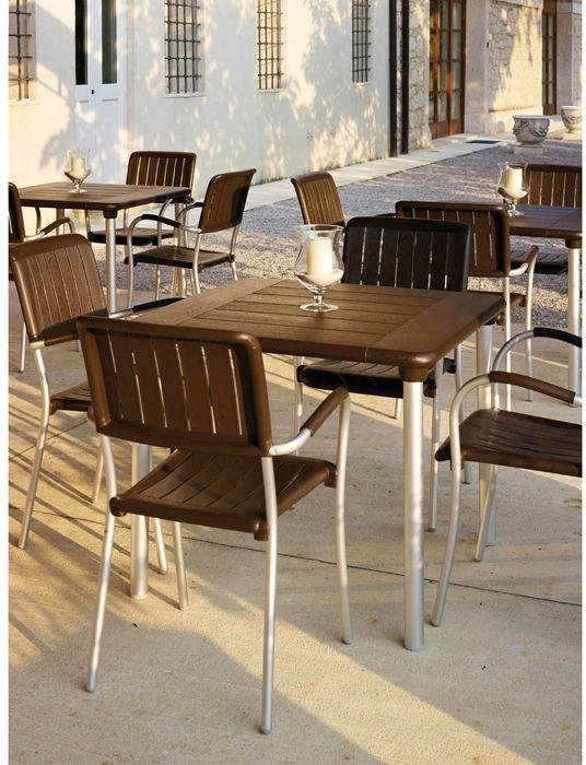 Nardi Maestrale Table with 4 Musa Chairs - Coffee. lowest price