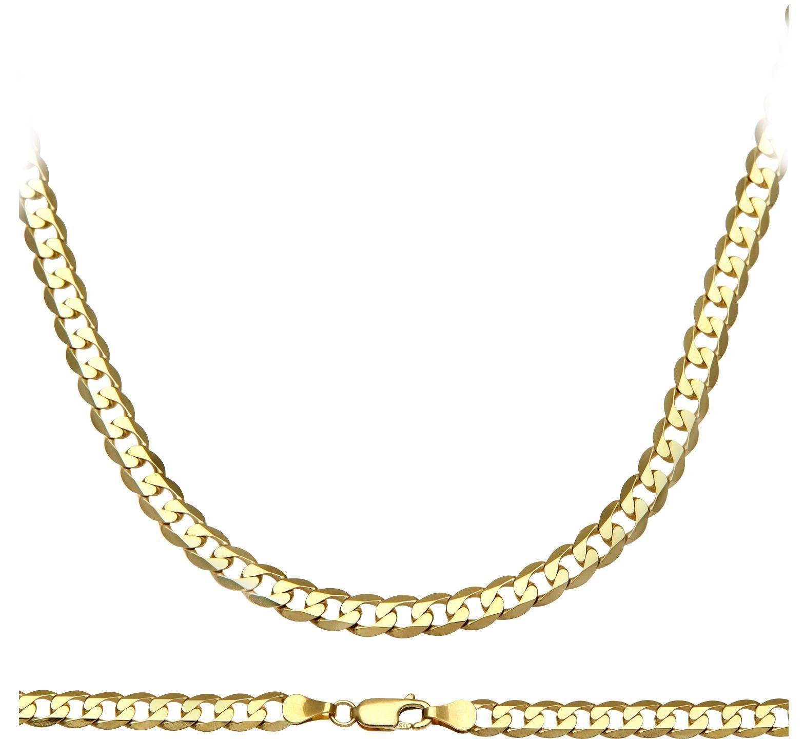 Image of 9ct Gold 24 Inch Solid Curb Chain Necklace