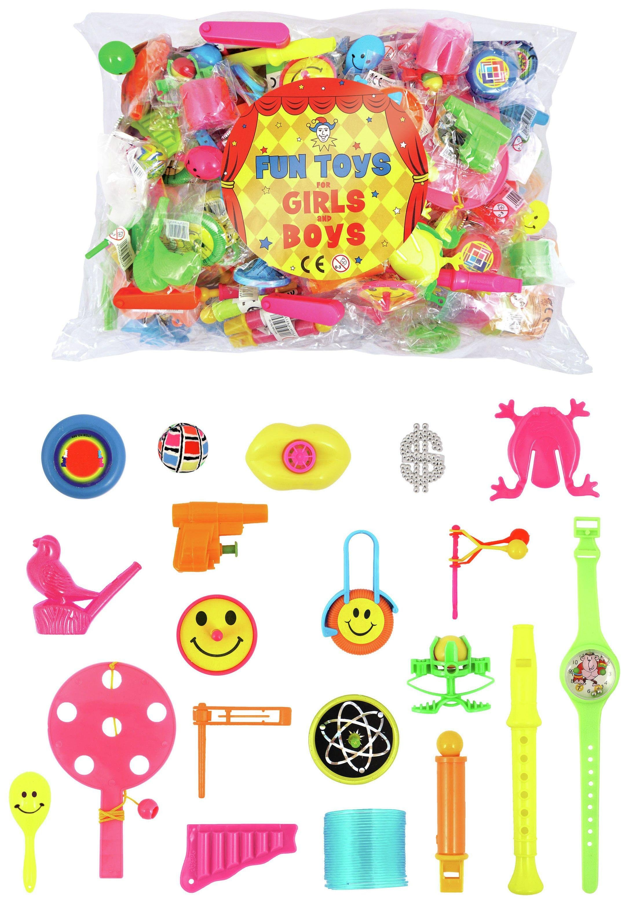 Image of 100 Piece Bag of Toy Party Favours.