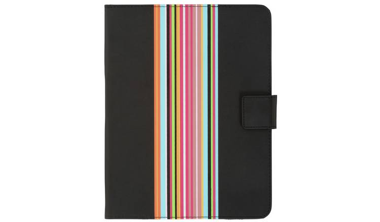 Universal 9/10 Inch Striped PVC Tablet Case - Black