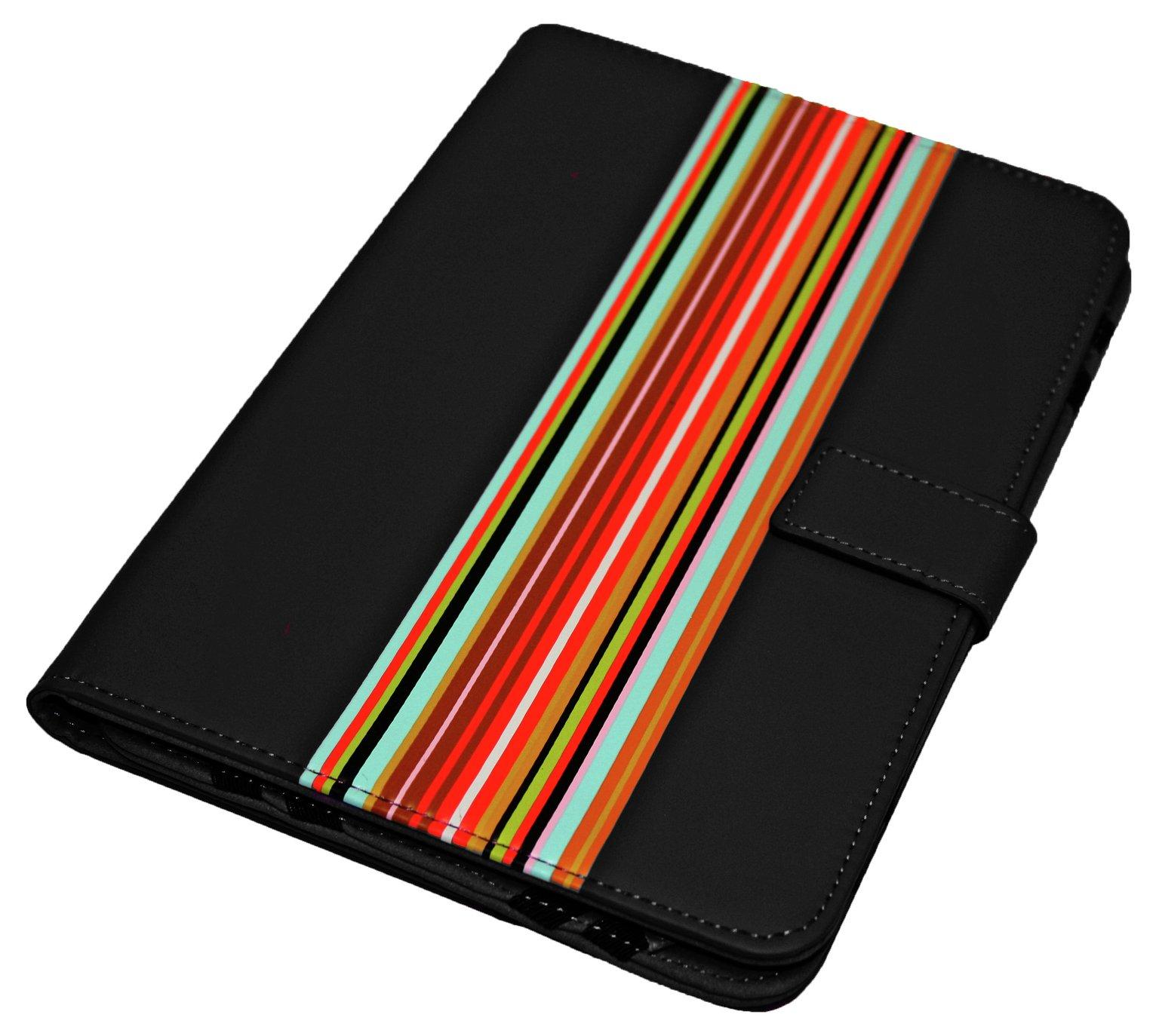 Universal - 9/10 Inch Striped PVC Tablet Case - Black