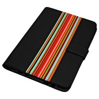 Universal - 9/10 Inch Striped PVC Tablet Case - Black