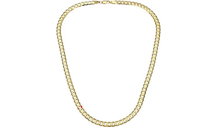 9ct Gold Curb Chain - 18 inch