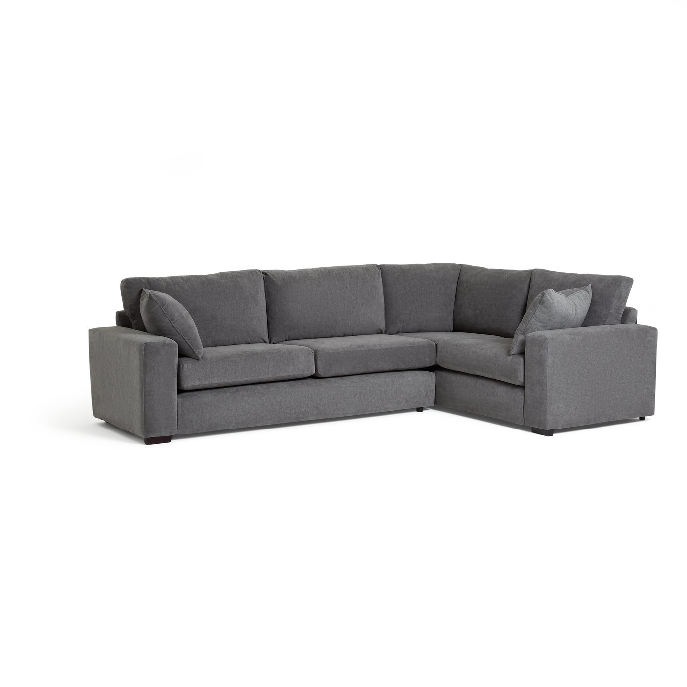Argos Home Eton Right Corner Fabric Sofa - Charcoal