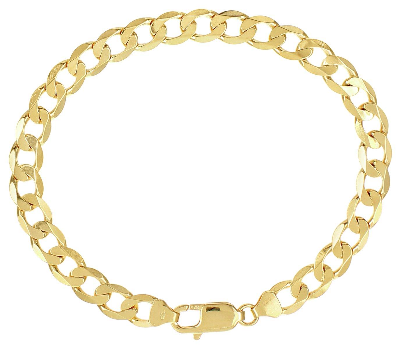 Image of 9 Carat Gold - 7.25 inch Curb Bracelet.