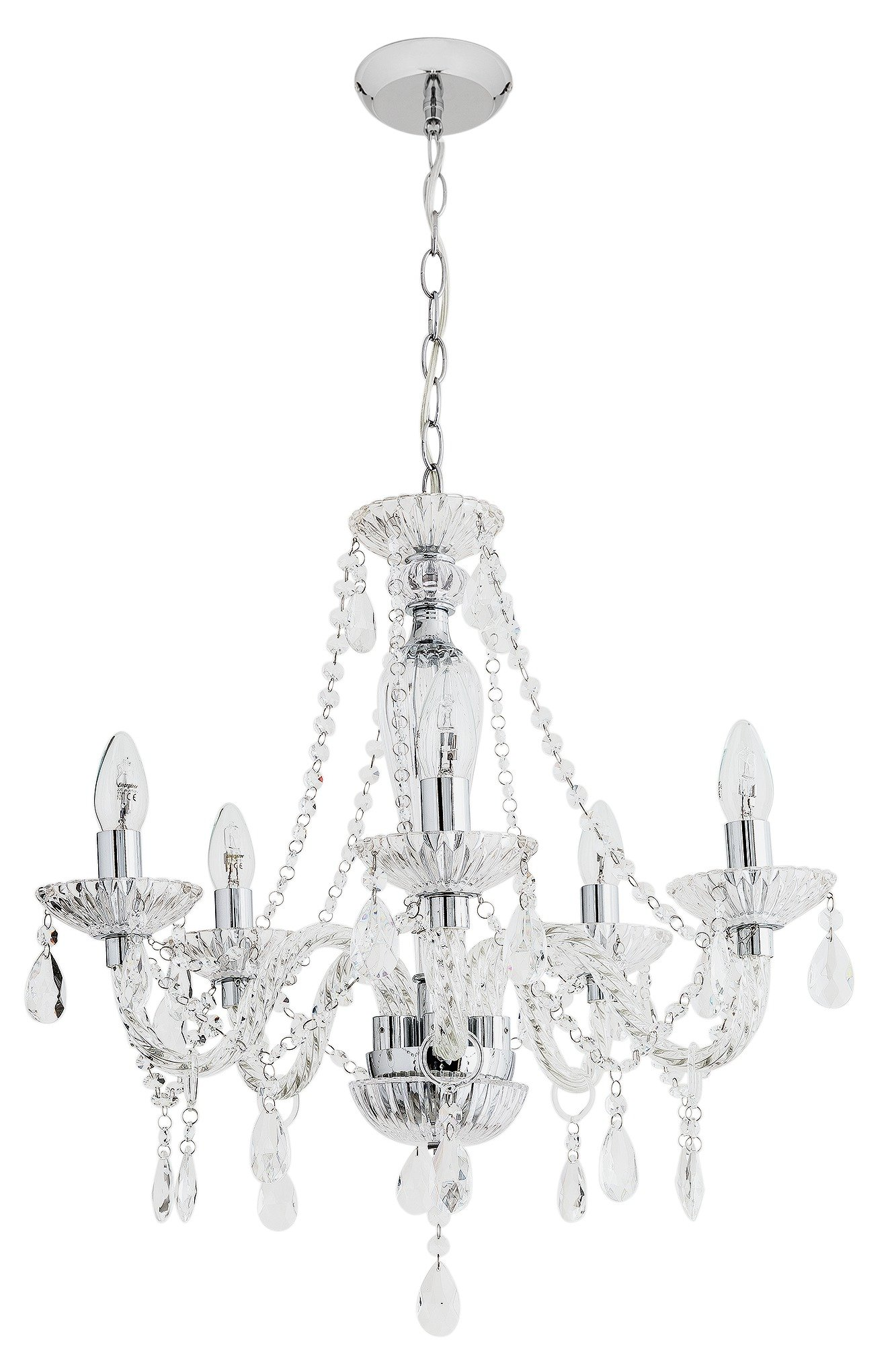 Argos Home Como 5 Light Glass Ceiling Fitting