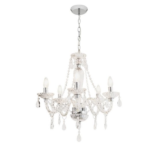 Buy heart of house como 5 light glass ceiling fitting at argos click to zoom aloadofball Image collections