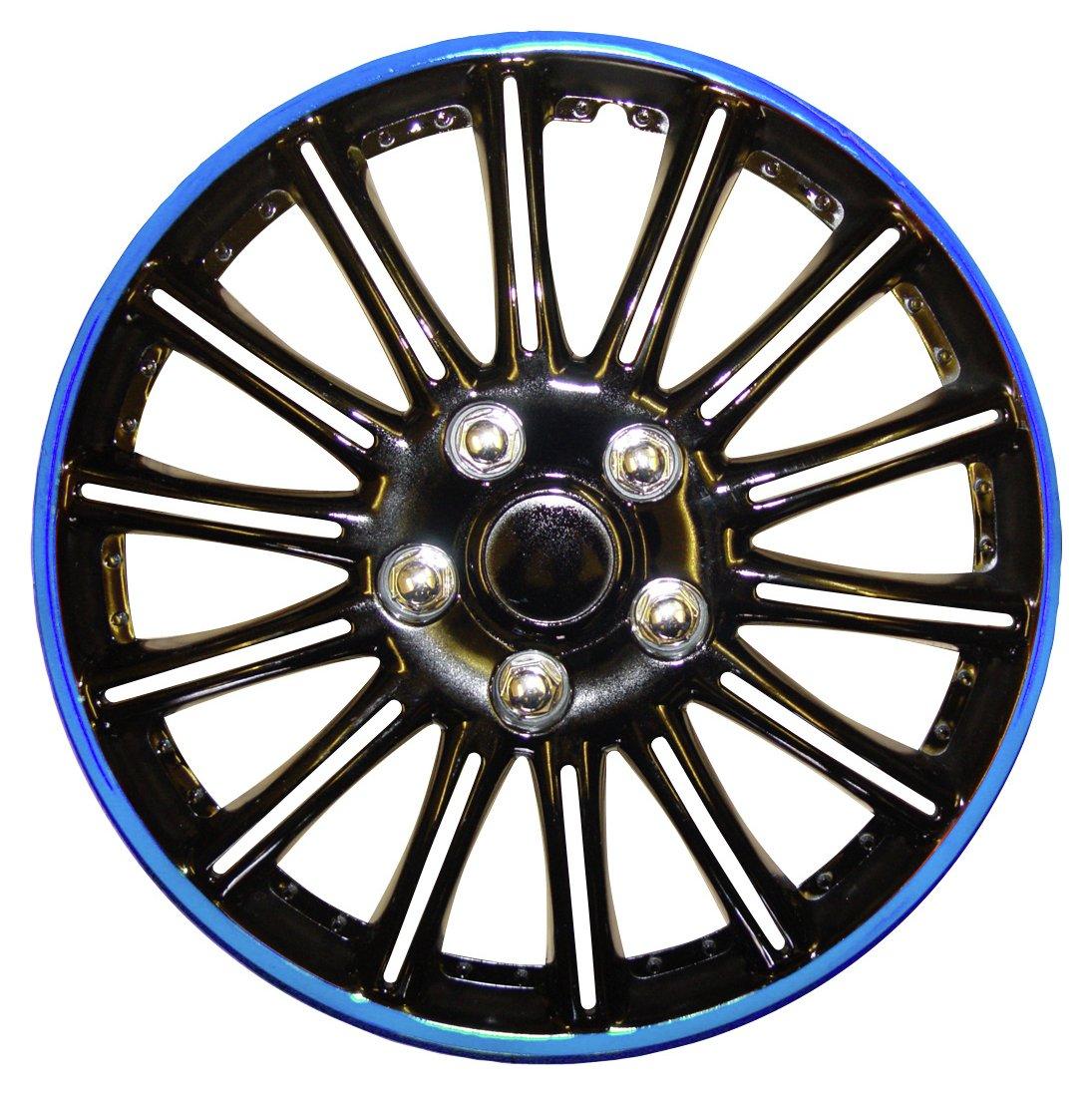 Rezistanz 14 Inch Wheel Trims - Black and Blue