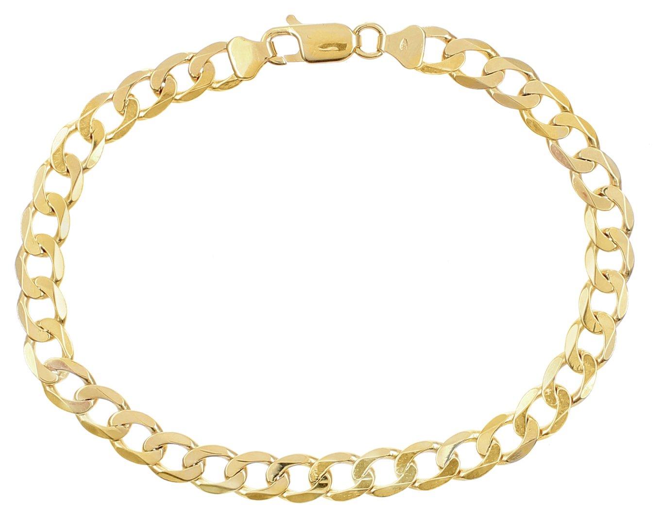 Image of 9 Carat Gold - 8 inch Curb Bracelet.