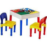 Kids Multi-Purpose Activity Table & 2 Chairs - Multicoloured