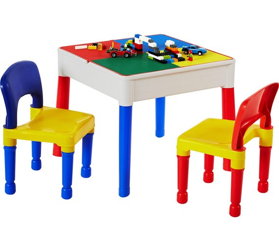 Buy Liberty Construction Multi-Purpose Activity Table & 2 Chairs ...