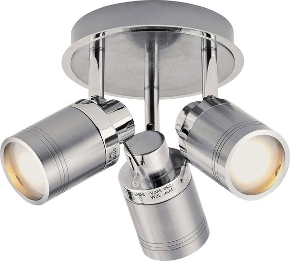 buy collection livorno 3 light bathroom spotlight chrome 10949