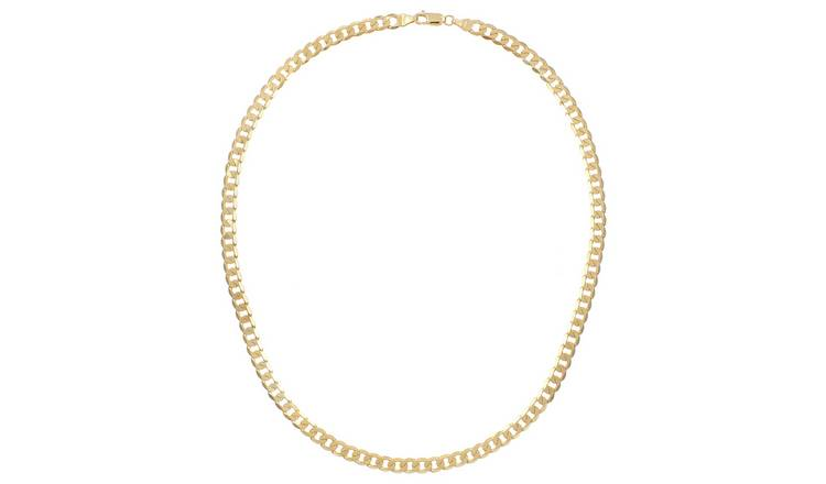 9ct Gold Curb Chain - 16 inch