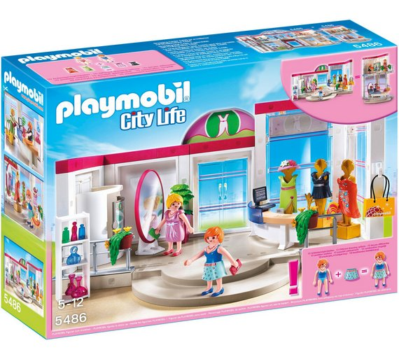Buy playmobil 5486 city life clothing boutique at for Cuisine playmobil