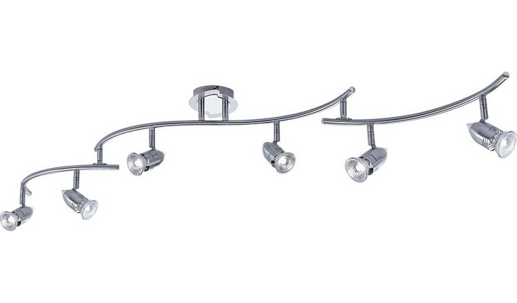 Argos Home Norton 6 Light Folding Ceiling Bar - Chrome