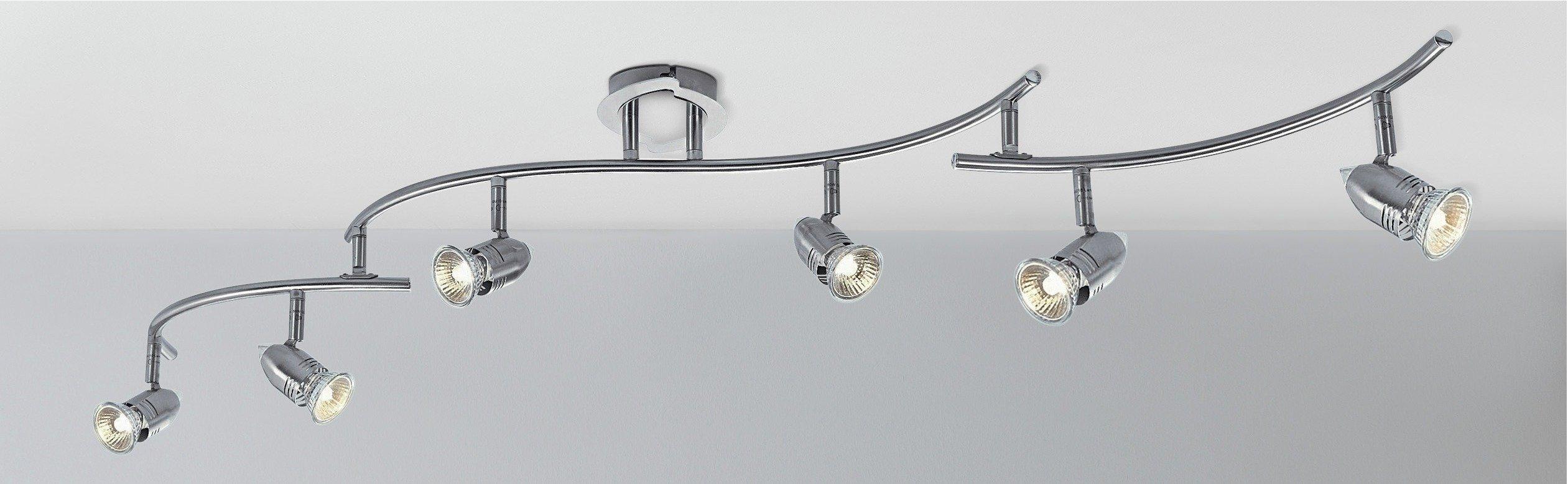 Argos Home Norton 6 Light Folding Ceiling Bar - Chrome