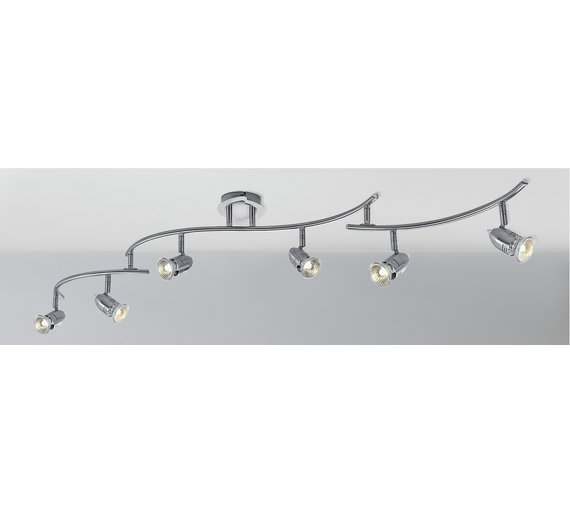 Buy collection norton 6 light folding ceiling bar chrome at click to zoom mozeypictures Image collections