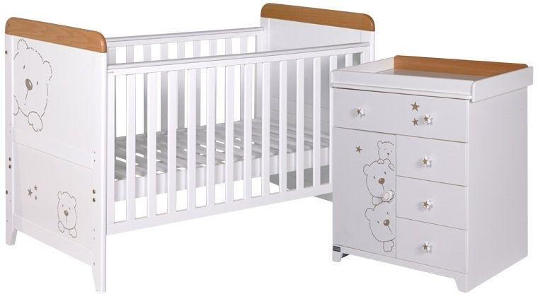 tutti bambini  3 bears 2 piece room set  beech and white
