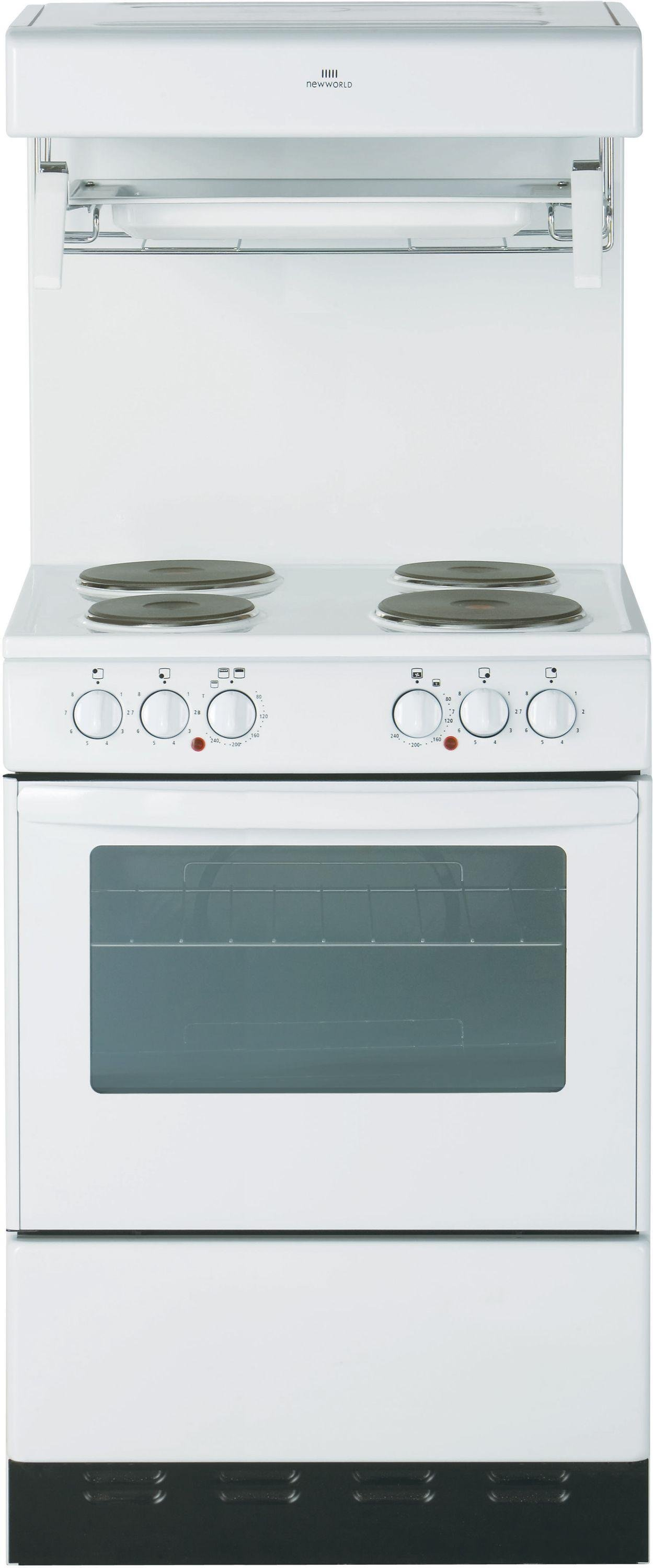 New World - NW55HLGE 55cm Electric Cooker - White