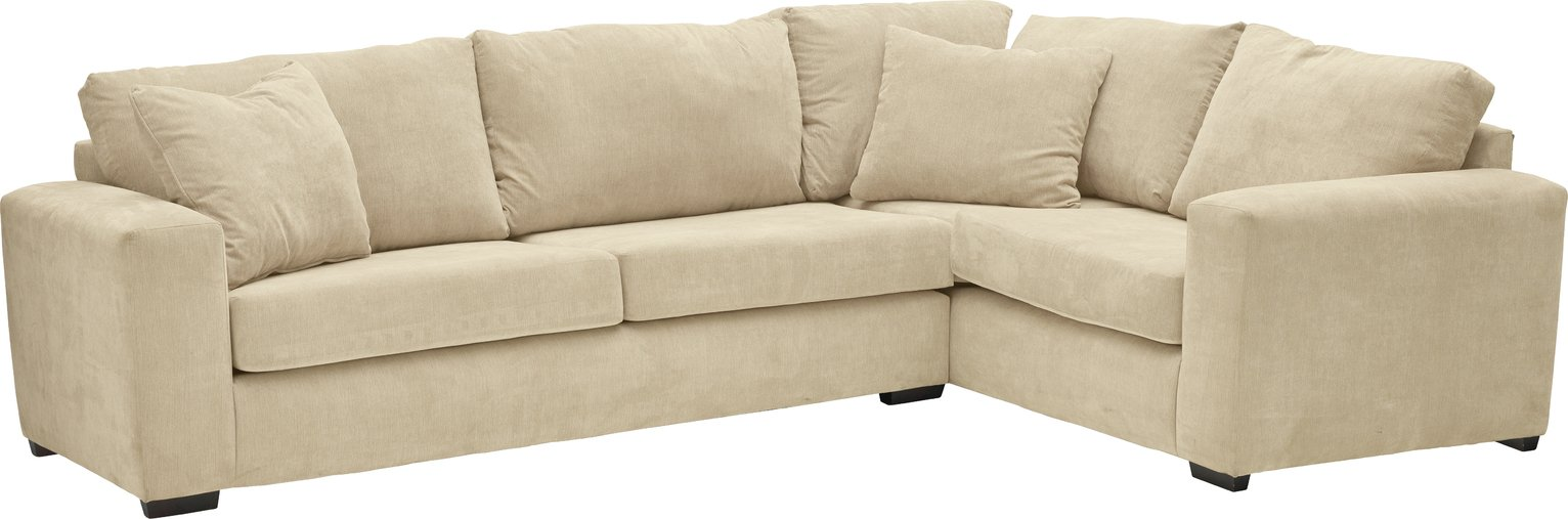 Argos Home Eton Right Corner Fabric Sofa - Mink