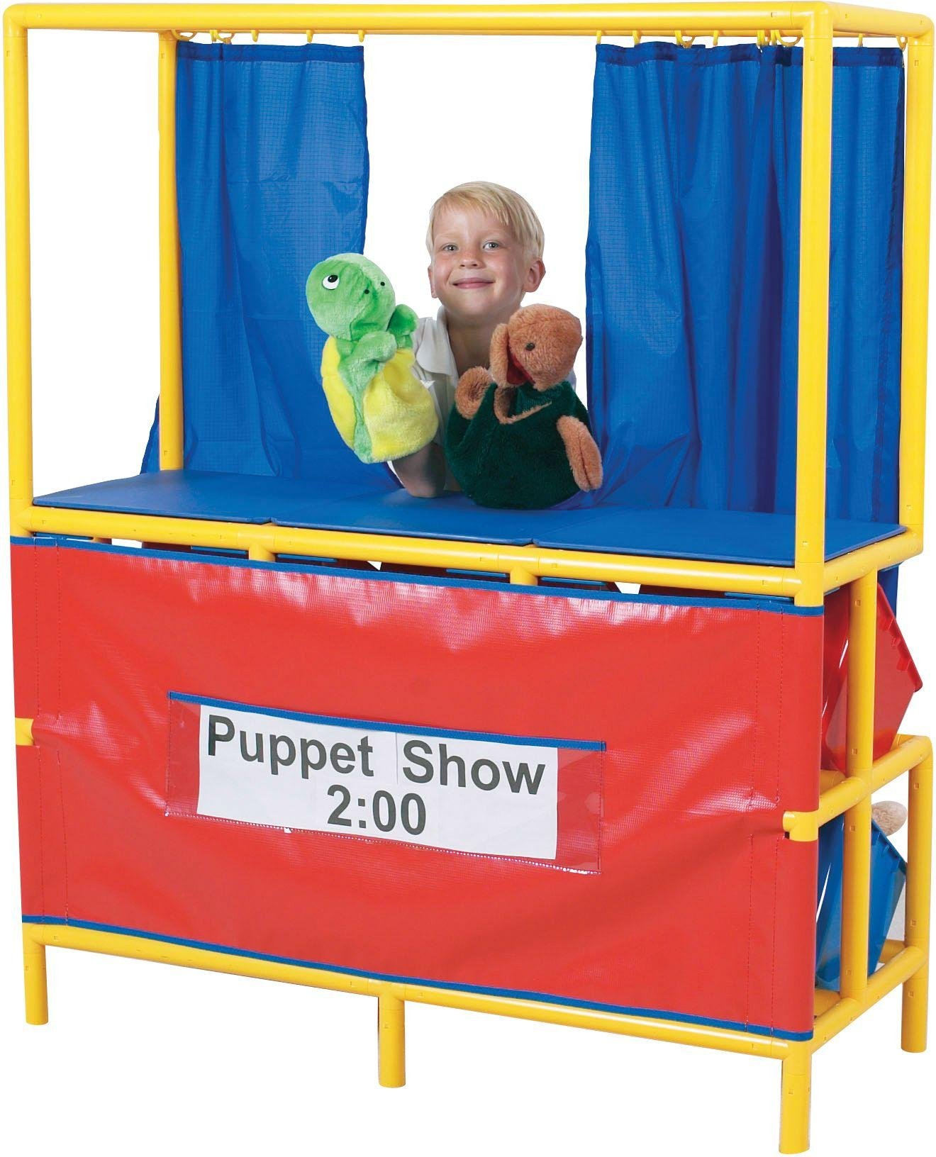 Image of Puppet Stage and Cubbies.