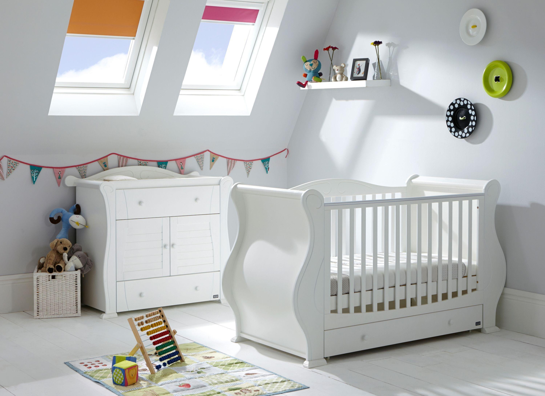 Image of Tutti Bambini Marie 2 Piece Room Set - White.