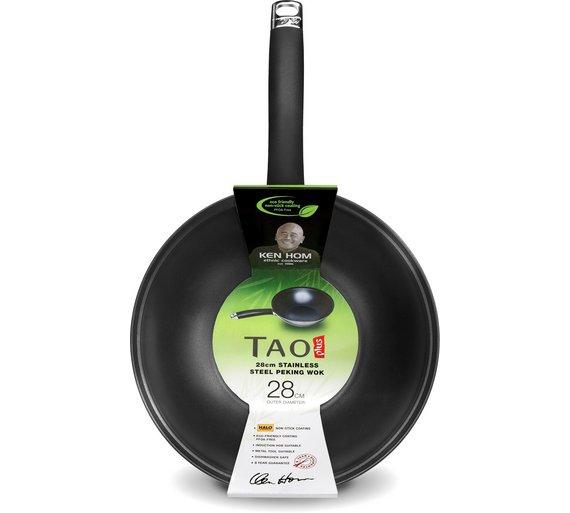 Buy Ken Hom Tao Plus 28cm Carbon Steel Wok At Argos Co Uk