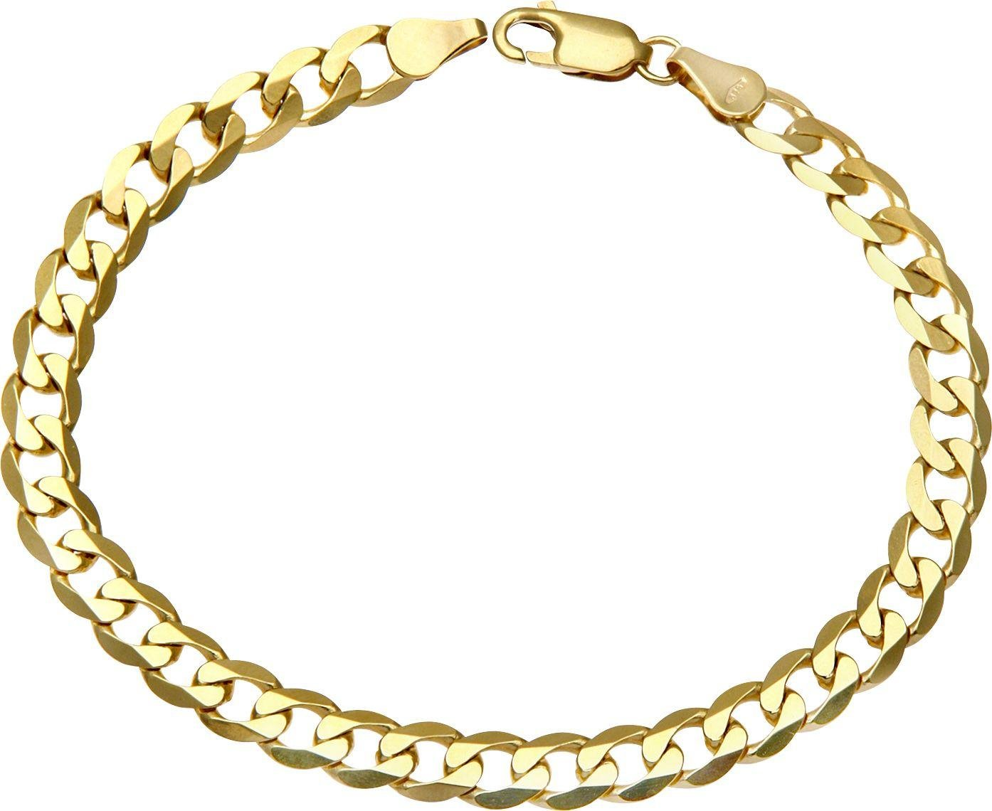 Image of 9ct Gold 7.25 inch Curb Bracelet - 6mm