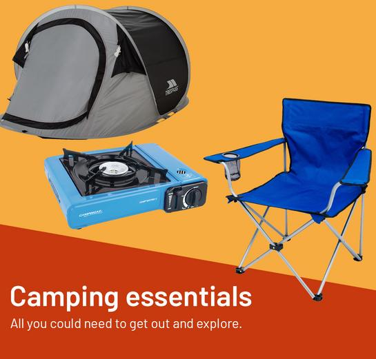Camping essentials. All you could need to get out and explore.