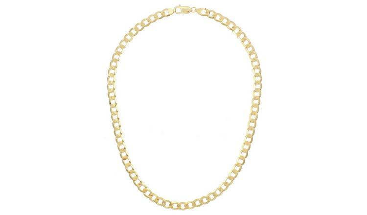 9ct Gold Curb Chain - 22 inch