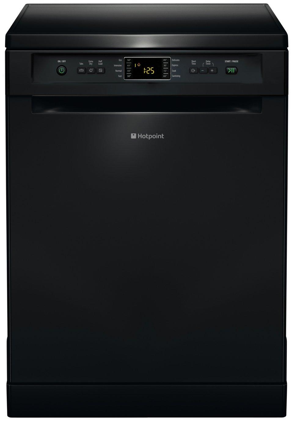 Hotpoint Extra FDFEX11011K Freestanding Dishwasher - Black