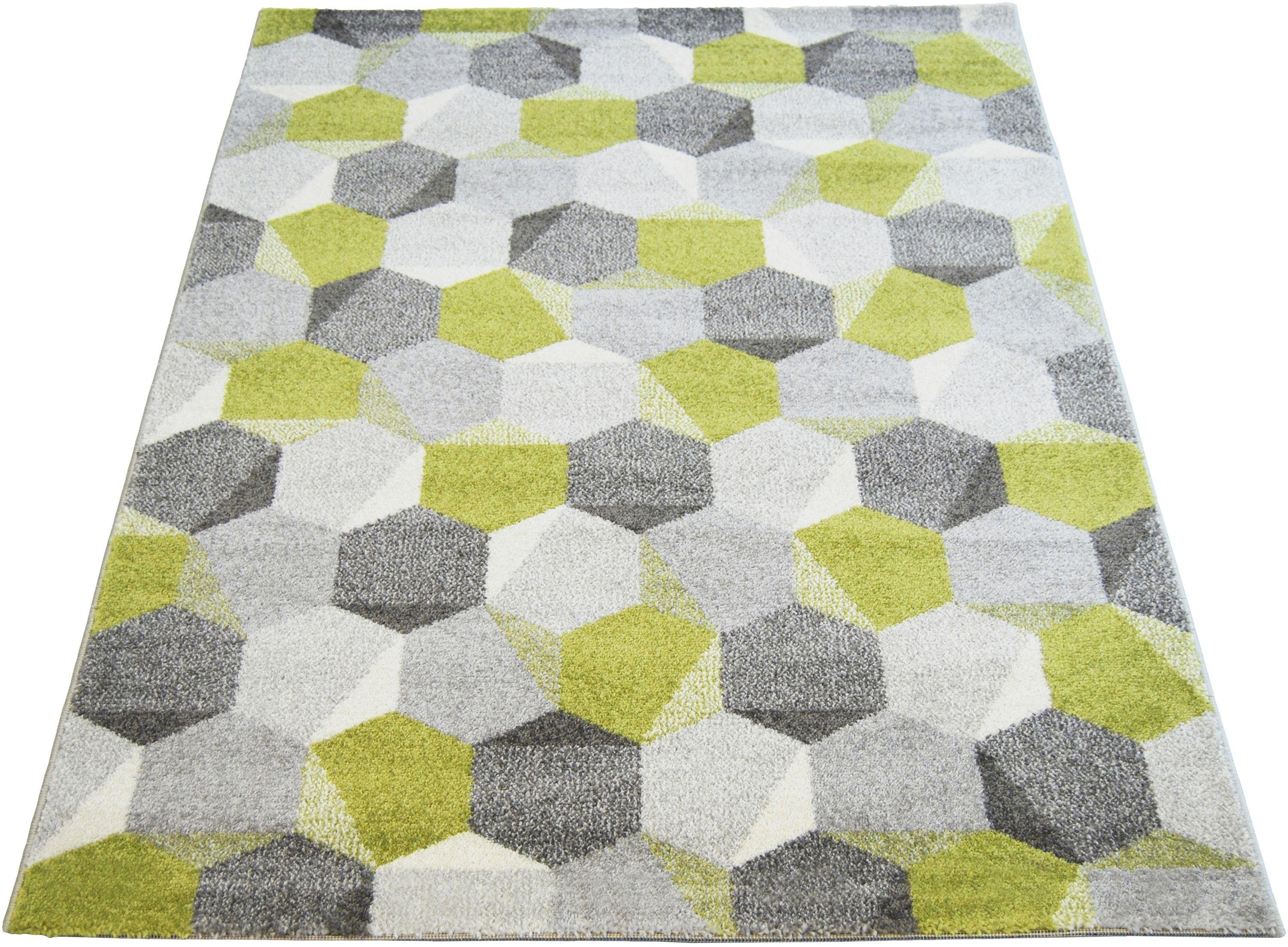High Quality Monte Carlo Pixel Rug   80x150cm   Green